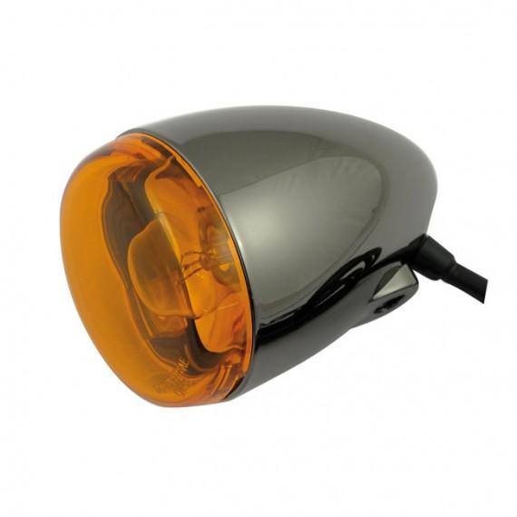 Freccia alogena nera nickel Chris Products Bullet Oem Style Mount A Lente Ambrata