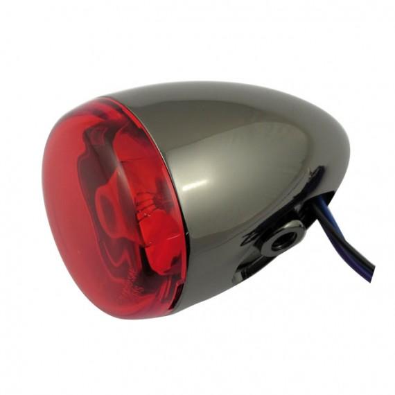 Freccia alogena nera nickel Chris Products Bullet Oem Style Mount C Lente Rossa