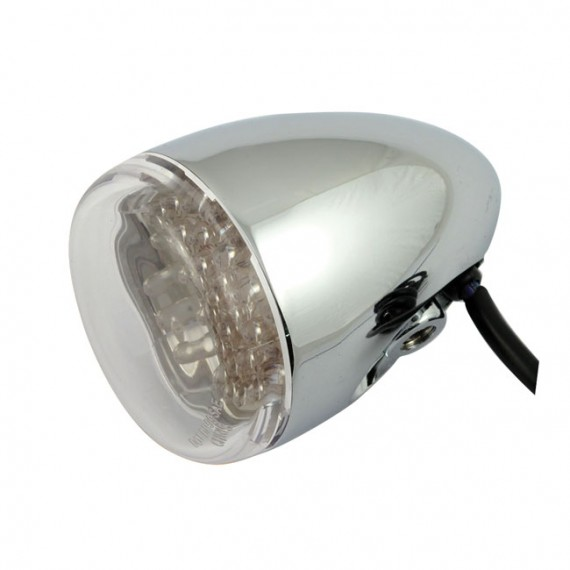 Freccia led cromata Chris Products Bullet Oem Style Led Rosso Lente Trasparente Mount Stud