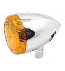 Freccia Led Multifunzione Posteriore cromata Bullet Oem Style Sportster 2009 lente ambrata