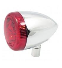 Freccia Led Multifunzione Posteriore cromata Bullet Oem Style Sportster 2009 lente rossa