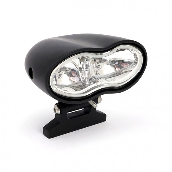 Faro Anteriore Oval Smooth Double Nero
