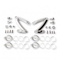 Kit Staffe di montaggio Faro Anteriore Z-Style Cromate 38/41mm