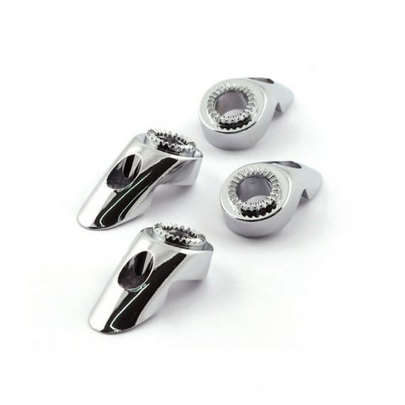 Supporto di montaggio cromato per Frecce Chris Products Bullet Oem Style Mount A