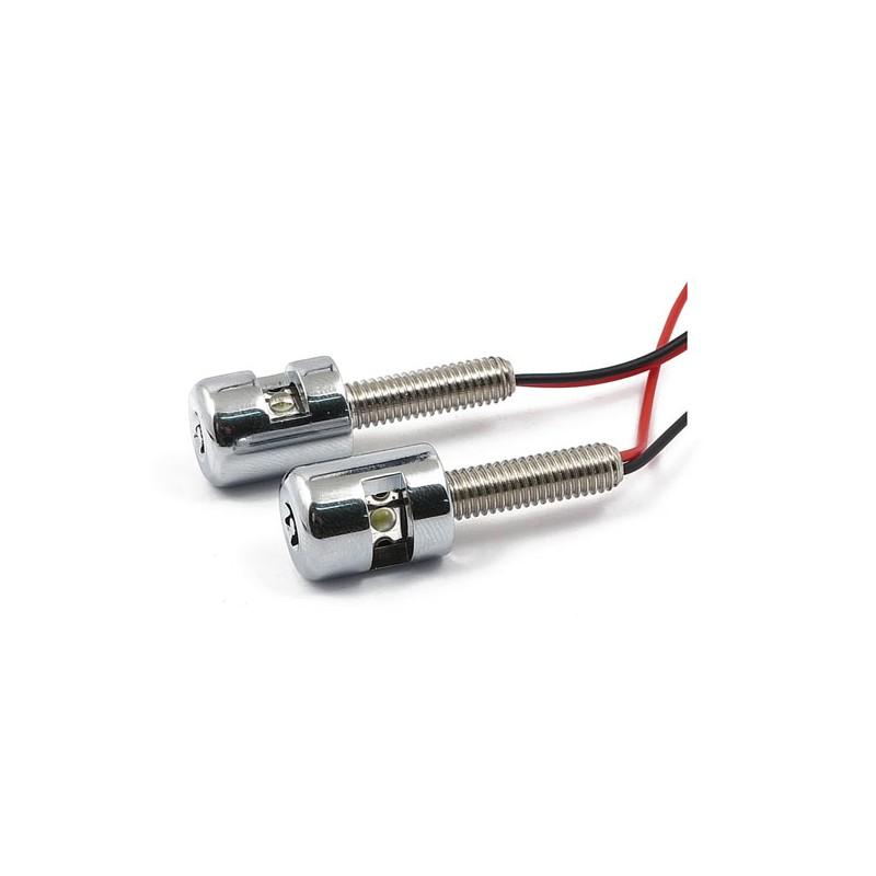 Luci Targa Custom Dynamics LED Bianco Cromate