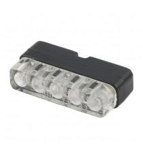 Luce Targa Micro 5 LED Nera