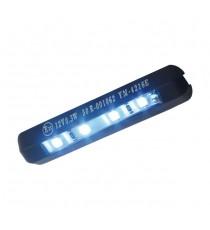 Luce Targa Flessibile Micro 4 LED Nera