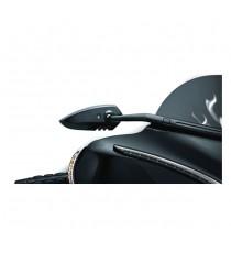 Specchietti retrovisore Kuryakyn Windshield Scythe Touring Style Nero
