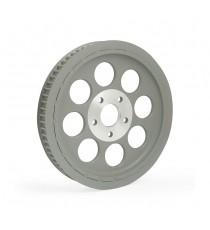 Puleggia trasmissione ruota posteriore 65 denti Shovel – Big Twin Silver