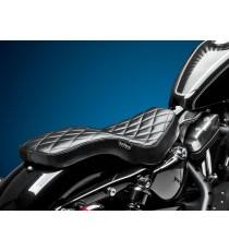 Sella Le Pera doppia seduta cobra diamantata black XL Sportster