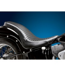 Sella Le Pera doppia seduta cobra full length pleated black Softail