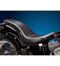 Sella Le Pera doppia seduta cobra full length smooth black Softail