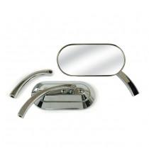 Specchietto retrovisore Hmp Oval Custom Cromato