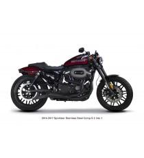 Sistema di Scarico Completo TBR Comp S 2-1 Sportster 2014 - UP Nero Ceramic Cap Carbon