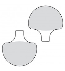 Pastiglie freno anteriori organiche Drag Specialties Softail 1984 – 1999