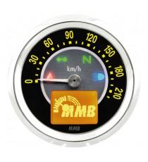 Contachilometri Elettronico MMB Ultra Mini Target Cromato Sfondo Nero