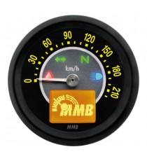 Contachilometri Elettronico MMB Ultra Mini Target Nero Sfondo Nero
