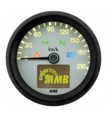 Contachilometri Elettronico MMB Ultra Mini Basic Nero Sfondo Bianco
