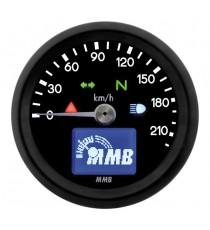 Contachilometri Elettronico MMB Ultra Mini Basic Nero Sfondo Nero