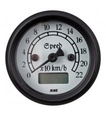 Contachilometri Elettronico MMB Ultra Mini Classic Nero Sfondo Bianco