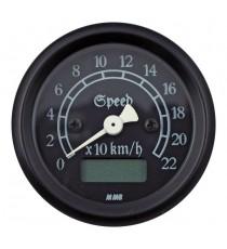 Contachilometri Elettronico MMB Ultra Mini Classic Nero Sfondo Nero