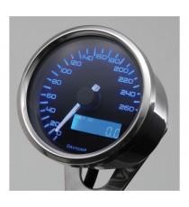Contachilometri Elettronico Daytona Velona Speedo 60mm Blue Led