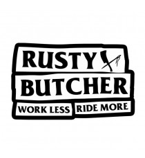 Sticker Rusty Butcher Motto