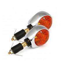 Frecce moto Alogene Bar End Bulls Eye Amber Lens