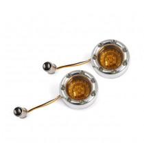 Frecce moto Led Anteriori Bullet Ringz Amber Lens