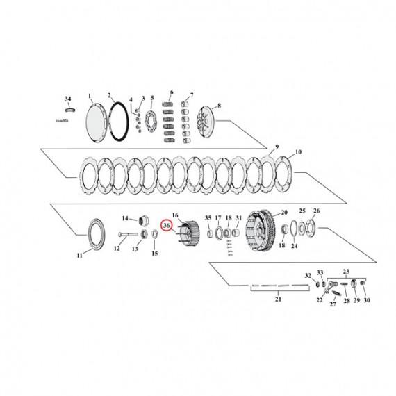 """Perni mozzo frizione da 2.500"""" Harley Davidson XL Sportster 1967 – 1970"""