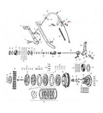 """Dado superiore cavo frizione Harley Davidson SV 45"""" 1941 – 1973"""
