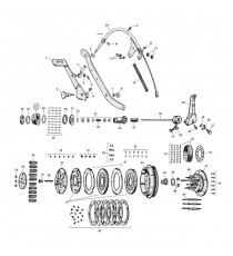 """Cuscinetto ingranaggio frizione Harley Davidson SV 45"""" 1941 – 1973"""