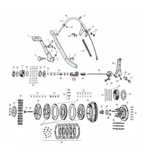 "Ingranaggio asta di spinta frizione Harley Davidson SV 45"" 1941 – 1973"