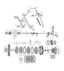 "Boccola ingranaggio asta di spinta frizione Harley Davidson SV 45"" 1941 – 1973"