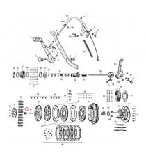 Dado vite regolazione frizione Harley Davidson SV 45