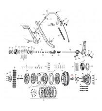 Dado e rondella ingranaggio frizione Harley Davidson SV 45