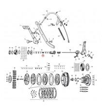 """Kit bloccaggio asta di spinta frizione Harley Davidson SV 45"""" 1941 – 1973"""