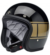 Casco Biltwell Jet Bonanza Holeshot Gloss Black