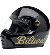 Casco integrale Biltwell Lane Splitter Factory Black/Gold