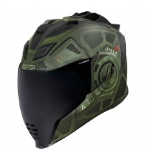 Casco Icon Airflite Integrale Blockchain Green ECE