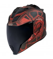 Casco Icon Airflite Integrale Blockchain Red ECE