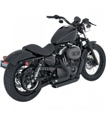 Shortshots Staggered Black XL Sportster 2004 – 2013