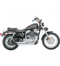 Shortshots Staggered Chrome XL Sportster 1999 - 2003